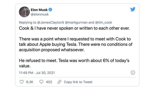 Elon Musk khẳng định không có chuyện ông muốn làm CEO Apple và khiến Tim Cook nổi cáu đến mức chửi tục - Ảnh 3.