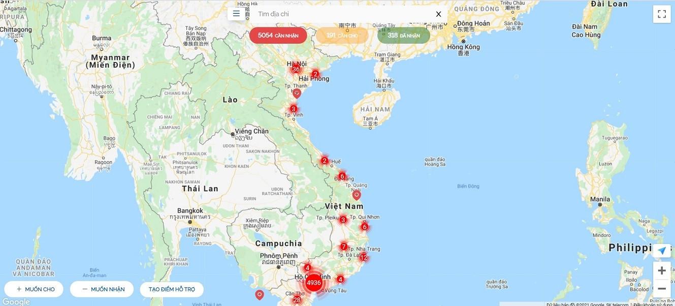 Sử dụng bản đồ kết nối từ thiện trong mùa dịch Covid-19 như thế nào?