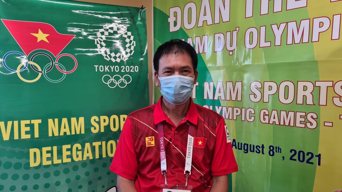 Trưởng đoàn TTVN tại Olympic Tokyo - Trần Đức Phấn (Ảnh: Đoàn TTVN).