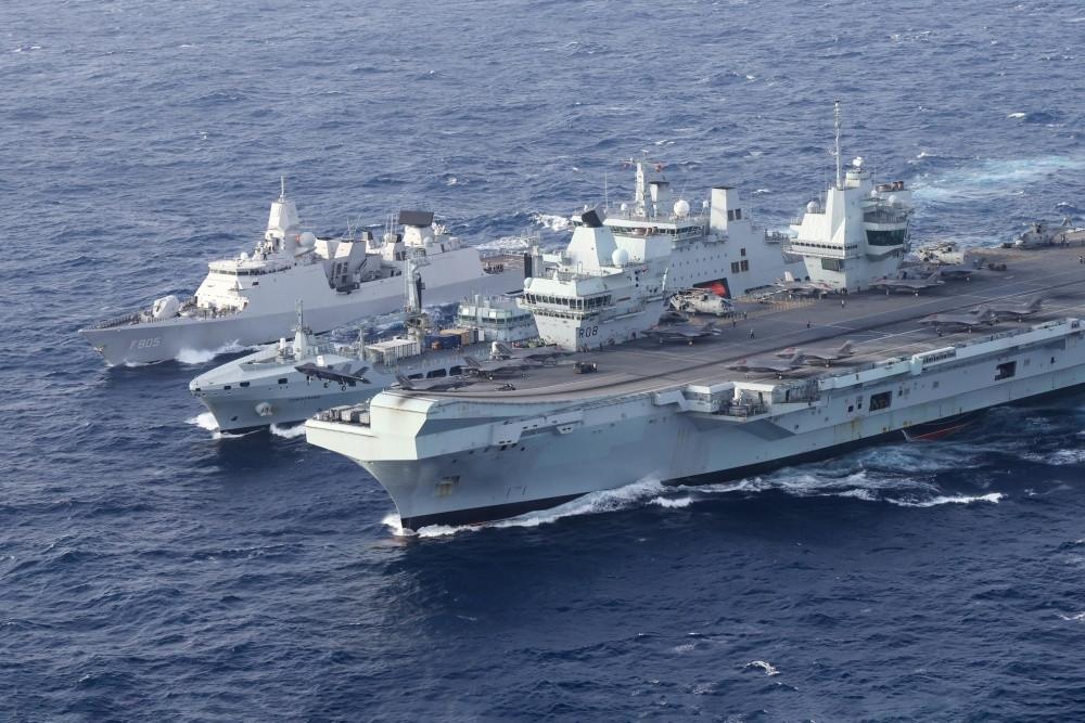 Nhóm tác chiến tàu sân bay HMS Queen Elizabeth hoạt động tại Biển Đông ngày 29.7 HẢI QUÂN HOÀNG GIA ANH