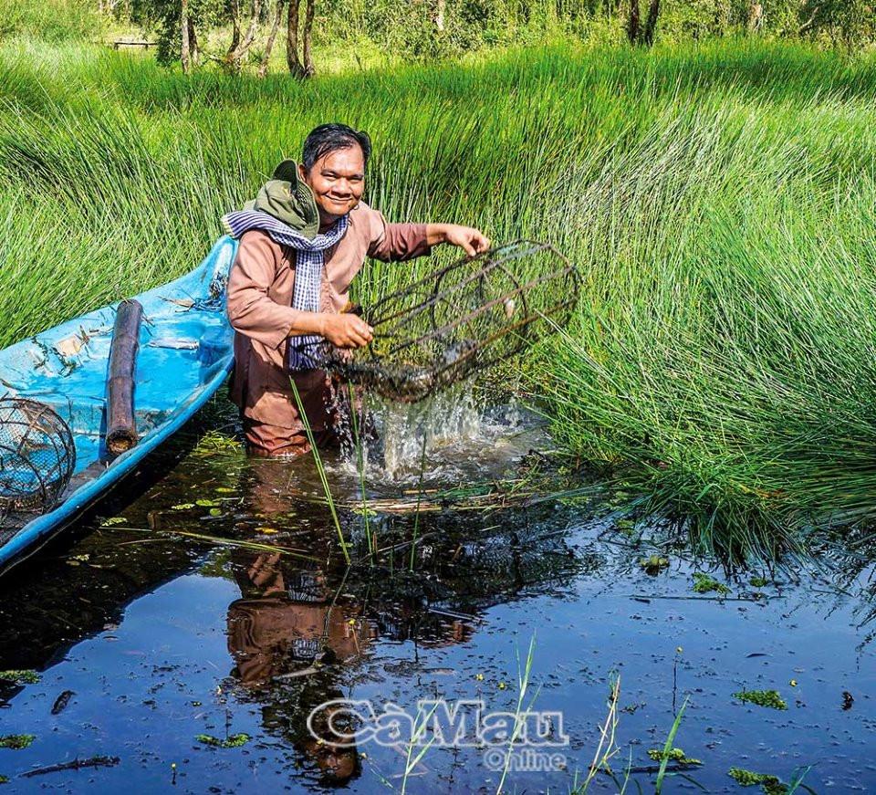 U Minh Hạ vào mùa đặt lọp bắt cá, rùa, rắn... - 4