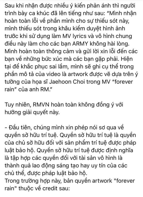 Một nam ca sĩ Việt bị ARMY tố đạo 90% artwork MV của RM (BTS) 3