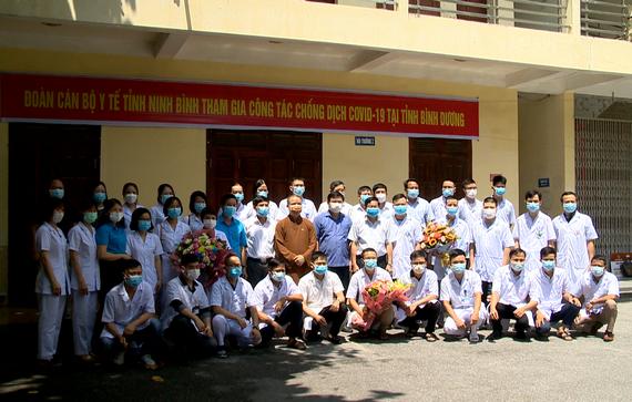 Ninh Bình hỗ trợ Bình Dương chống dịch COVID-19 - Ảnh 1.
