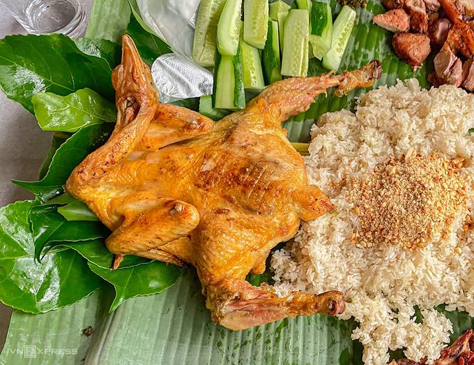 Gà nướng chấm muối cheo Quảng Bình - 1