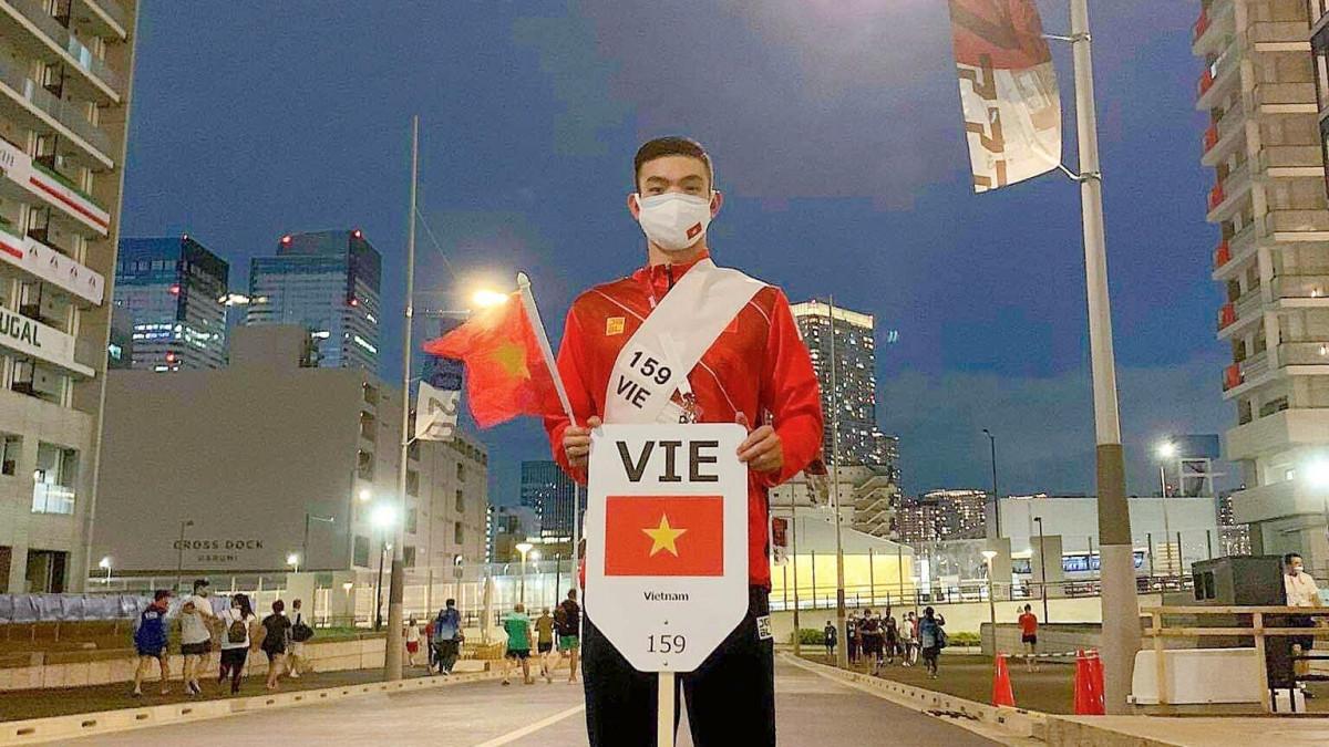 Huy Hoàng đã thi đấu tốt ở Olympic Tokyo 2020 (Ảnh: FBNV).