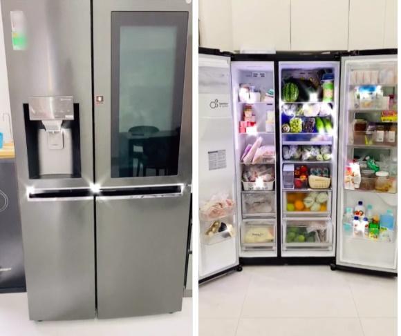 Chiếc tủ lạnh chuẩn đại gia mùa dịch: Giá gần 50 củ, đồ ăn chất như núi!-1