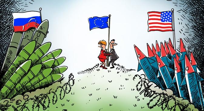 Nga nói về 'ý tưởng hứa hẹn' sau tan vỡ với Mỹ về Hiệp ước INF. (Minh họa của trang Latest Laws)