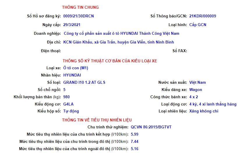 Hyundai i10 2022 lộ diện thông đăng kiểm tại Việt Nam