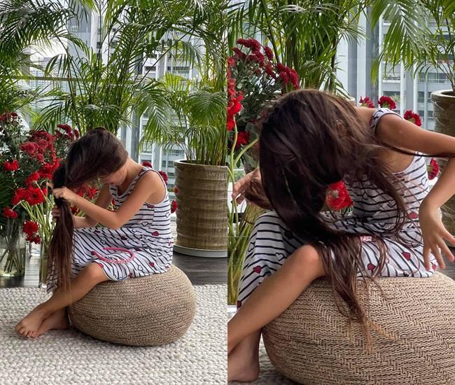 Con gái Đoan Trang tạo dáng xuất thần, xả dáng vẫn đẹp như thơ-12
