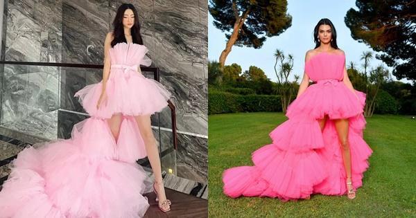 Lương Thùy Linh bị nghi mặc váy nhái Kendall Jenner-7