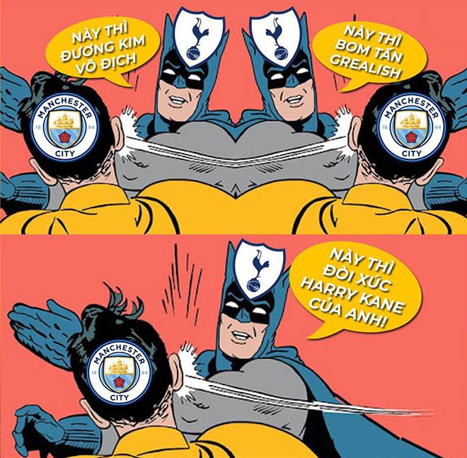 Ảnh chế: Man City bỏ tiền tấn vẫn bị Tottenham