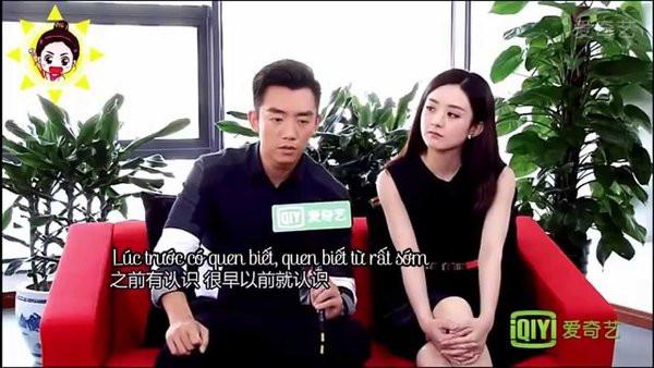 """Triệu Lệ Dĩnh khiến Trịnh Khải """"cạn lời"""""""