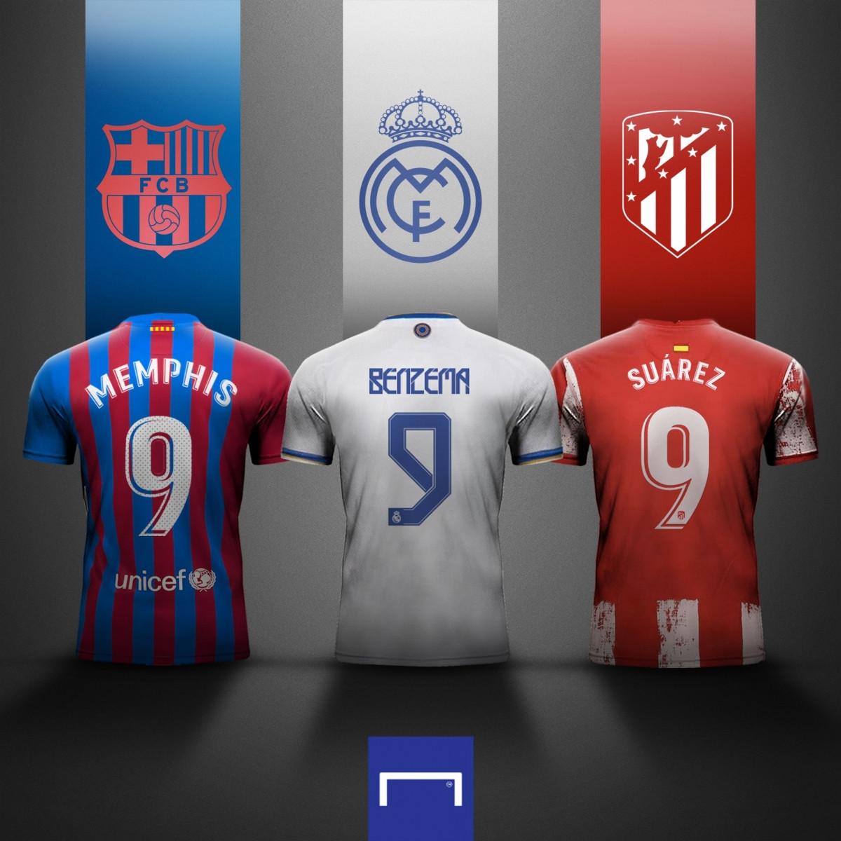 Những ứng viên cho cuộc đua Vua phá lưới La Liga mùa này. (Ảnh: Goal)