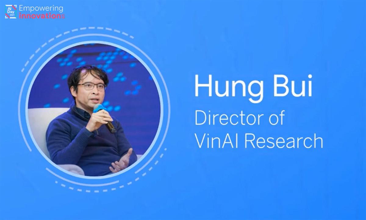 Tiến sĩ Bùi Hải Hưng – Tổng Giám đốc Công ty Nghiên cứu và Ứng dụng Trí tuệ nhân tạo VinAI (Tập đoàn Vingroup)