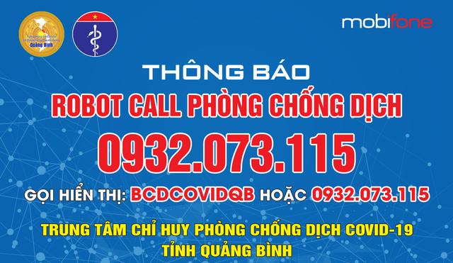 Quảng Bình nghi nhận thêm 24 ca mắc mới và triển khai hệ thống Robot call hỗ trợ chống dịch - Ảnh 2.