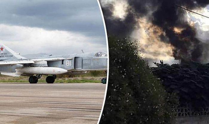 Su-24 của Không quân Nga bị rơi ở Perm, phi công nhảy dù kịp thời