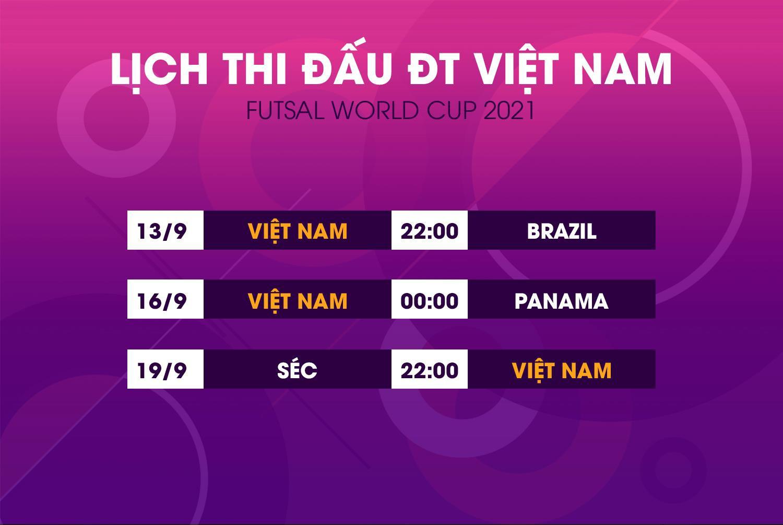 Lịch thi đấu World Cup futsal 2021 của đội tuyển Việt Nam - 1