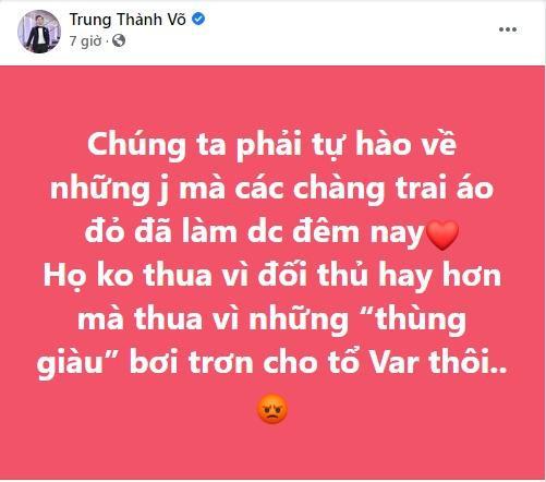 Thành Trung bị chỉ trích vì cổ vũ dân mạng tấn công trọng tài-4