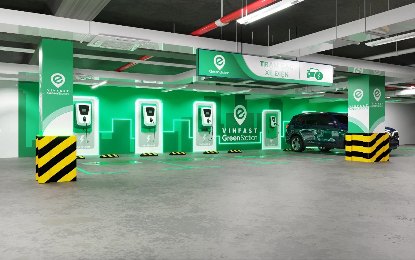 Trạm sạc xe điện của VinFast