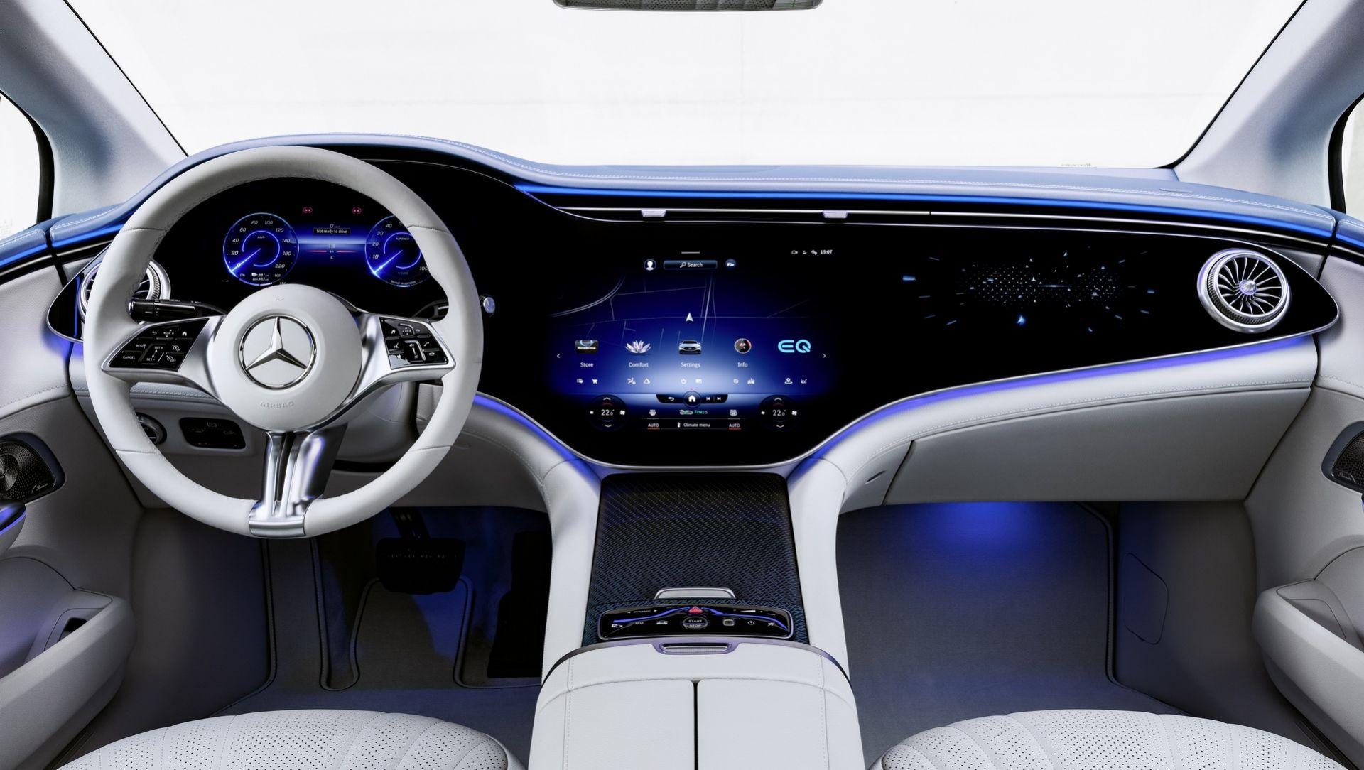 Nội thất Mercedes-Benz EQE sedan