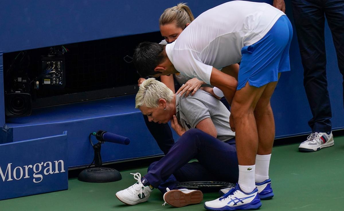 Ngày này 1 năm trước, Djokovic bị loại ở US Open bởi lý do ngoài chuyên môn. (Ảnh: USTA).