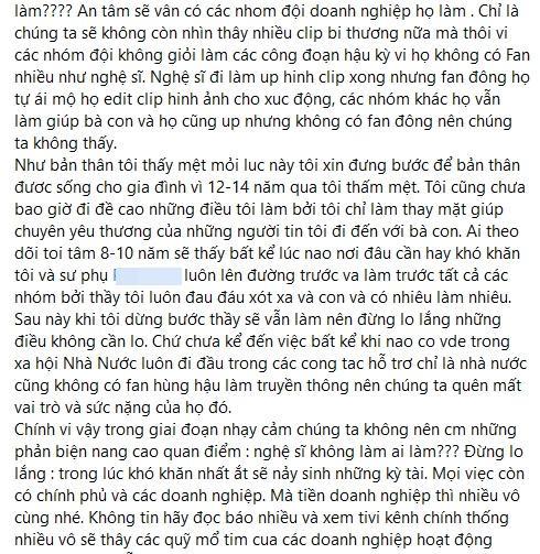Trang Trần phản pháo phát ngôn từ thiện của Hồng Tú?