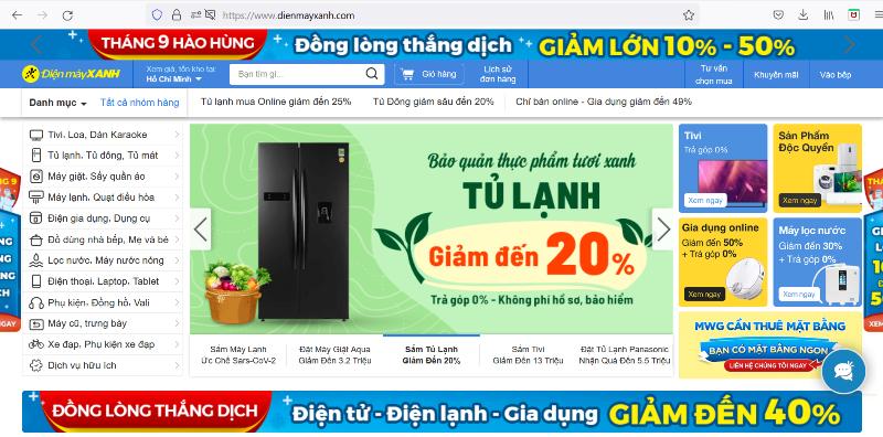 Ba chuỗi bán lẻ MWG vào top website TMĐT được truy cập nhiều nhất tại Việt Nam
