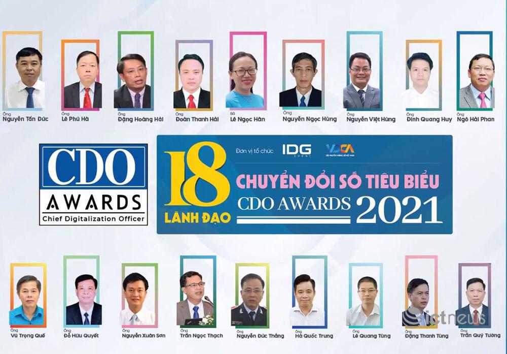 18 lãnh đạo chuyển đổi số Việt Nam tiêu biểu năm 2021