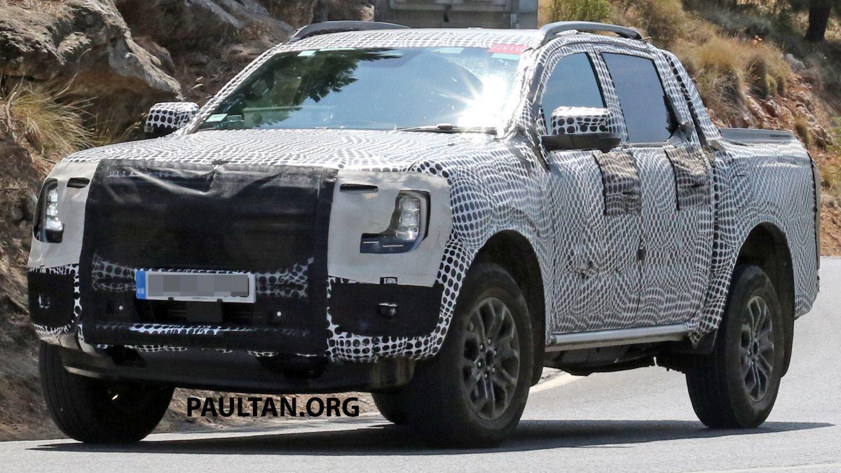 Ford Ranger 2022 xuất hiện