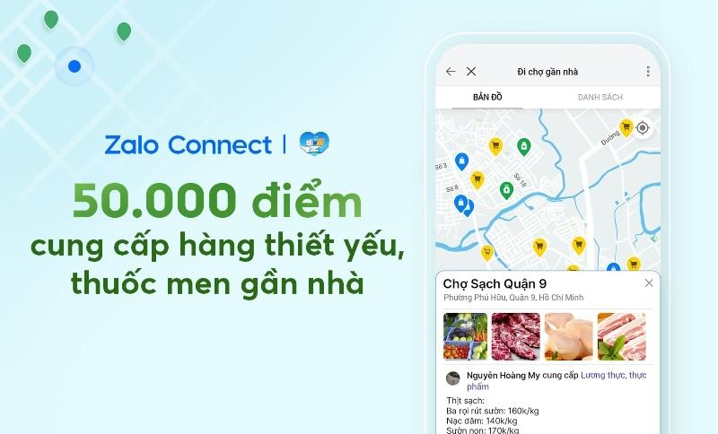 50.000 điểm cung cấp hàng thiết yếu, thuốc men gần nhà trên Zalo Connect