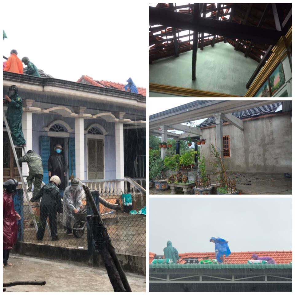 Bão số 5 làm tốc hơn 20 mái nhà ở Huế, 40 công nhân còn ở Rào Trăng 3 - 1