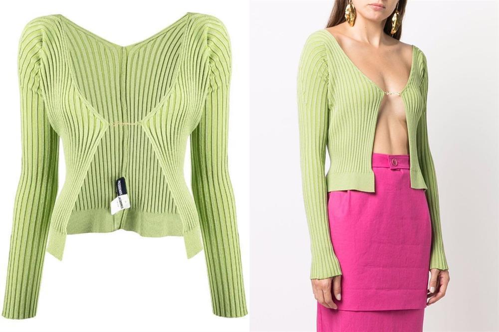 Jennie học Kendall Jenner mốt áo bung móc cài khoe ngực-3