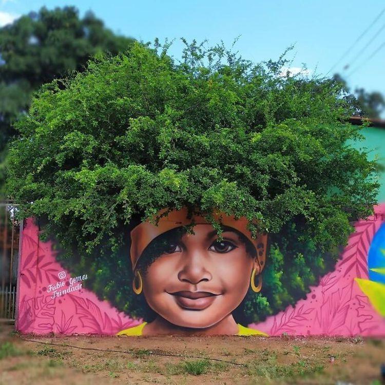 Hô biến cây cối hoa lá tự nhiên thành bức tranh đường phố tuyệt đẹp - 5