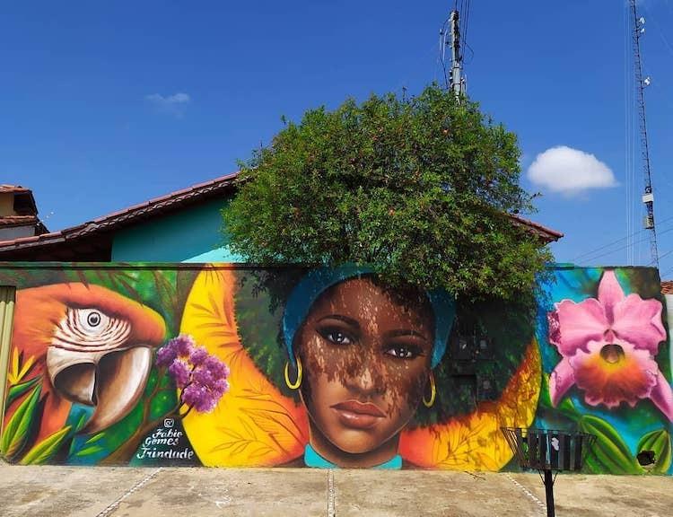 Hô biến cây cối hoa lá tự nhiên thành bức tranh đường phố tuyệt đẹp - 2