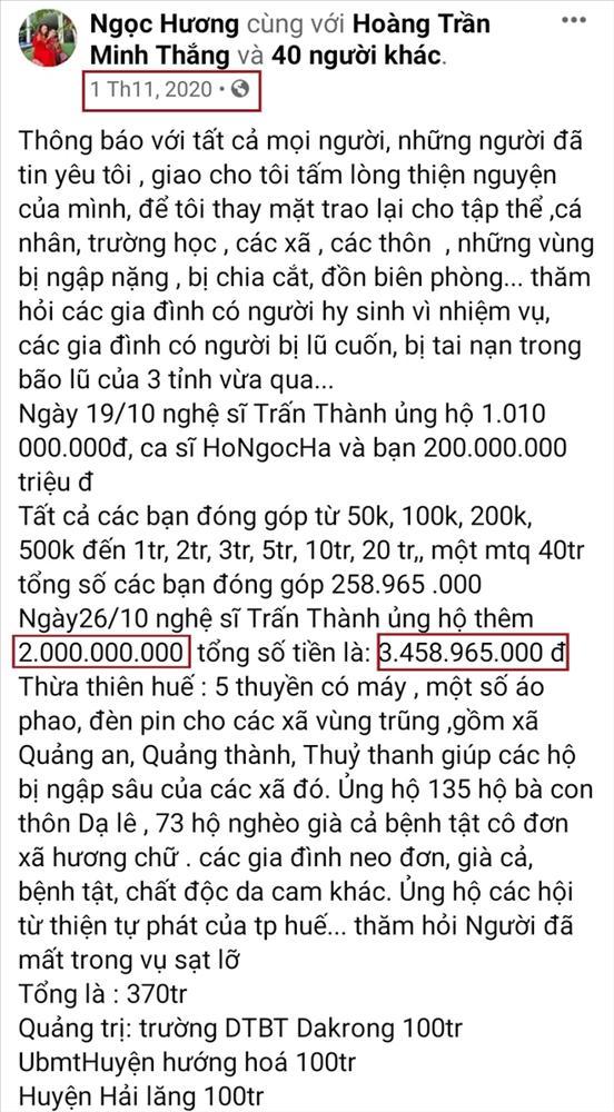Bất thường trong số tiền từ thiện mẹ Hà Hồ nhận từ Trấn Thành