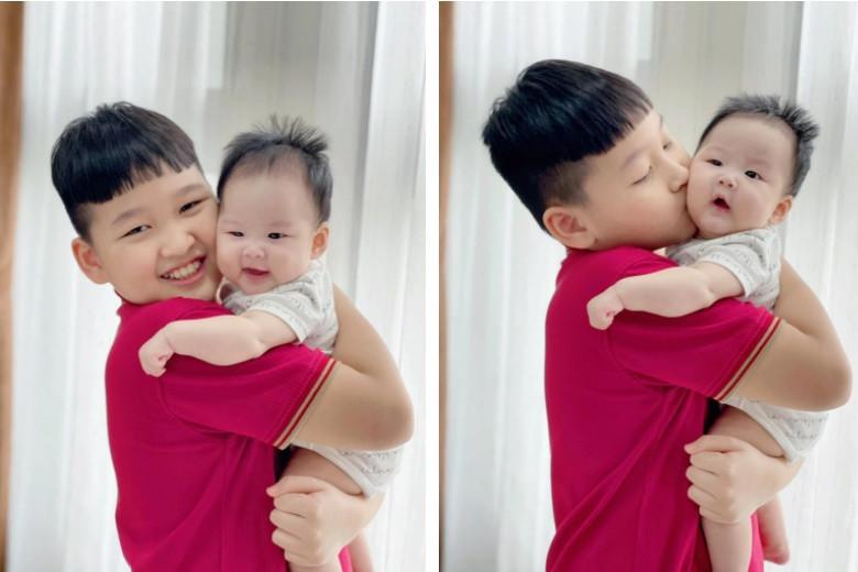 Sợ con trai tủi thân khi mẹ đẻ em bé, Bảo Thanh được khen khéo nuôi con vì làm điều này hàng ngày-1
