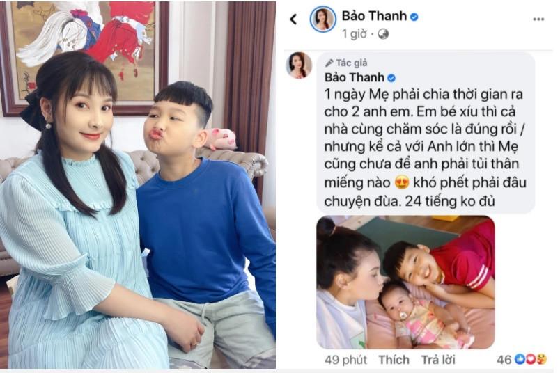 Sợ con trai tủi thân khi mẹ đẻ em bé, Bảo Thanh được khen khéo nuôi con vì làm điều này hàng ngày-2