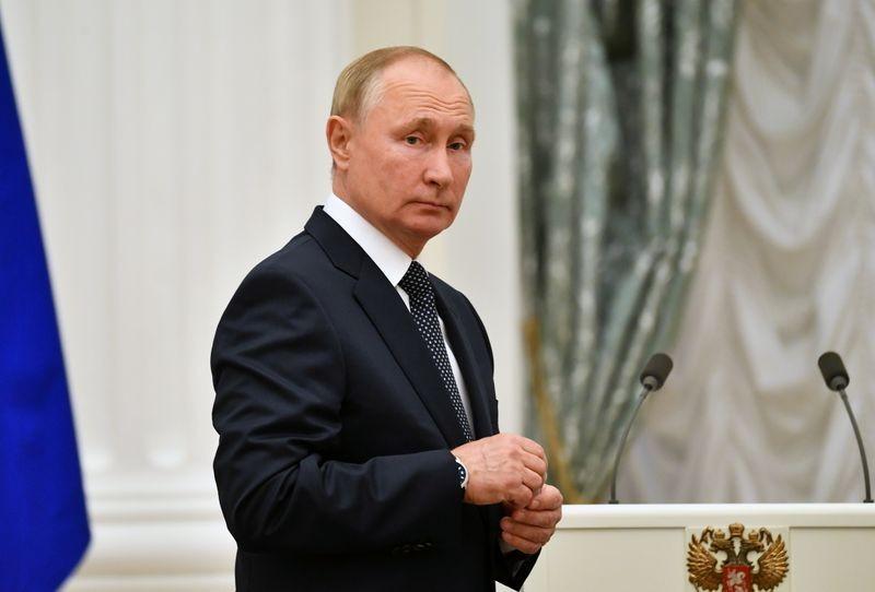 Điện Kremlin thông báo về tình hình sức khỏe của Tổng thống Nga Vladimir Putin. (Nguồn: Reuters)