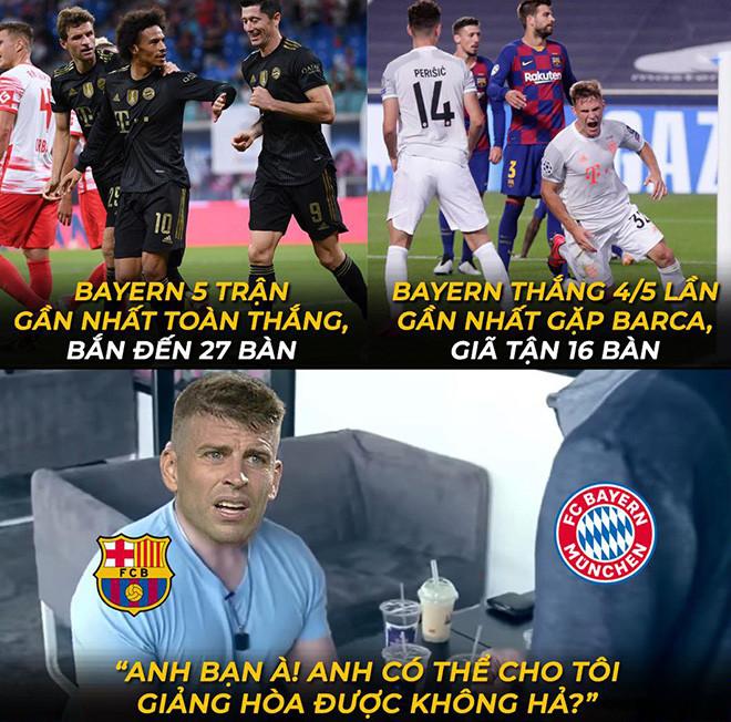 Ảnh chế: Không có Messi, Barca càng run rẩy khi đối đầu Bayern Munich - 1