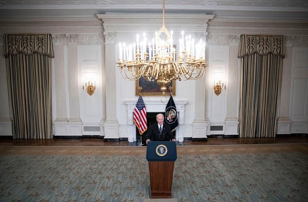 (09.10) Tổng thống Mỹ Joe Biden phát biểu về kế hoạch tiêm chủng mới tại Nhà Trắng ngày 9/9. (Nguồn: Reuters)