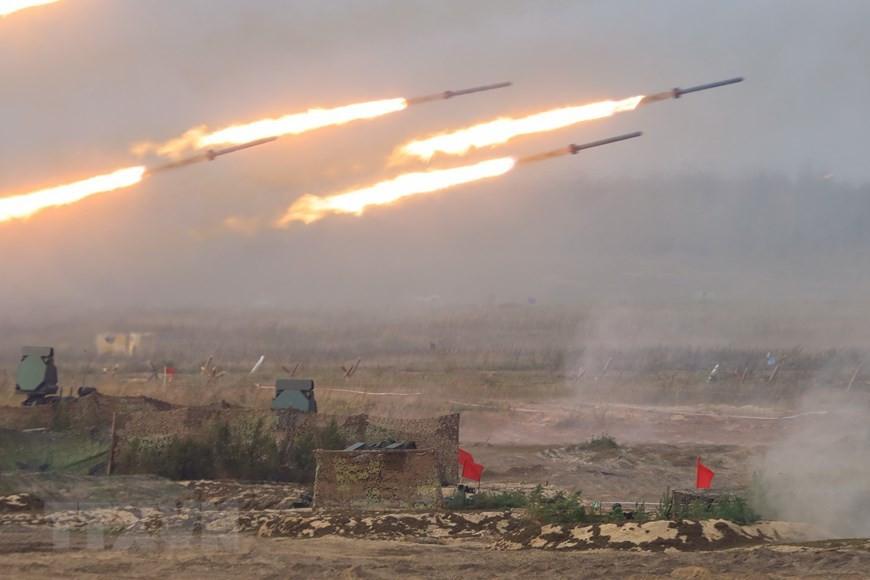Cận cảnh màn khai hỏa tại cuộc tập trận Zapad-2021