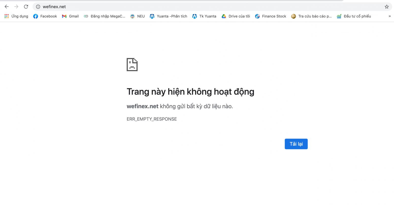 Hàng loạt website sàn giao dịch BO trong hệ sinh thái Wefinex bị chặn - Ảnh 1.