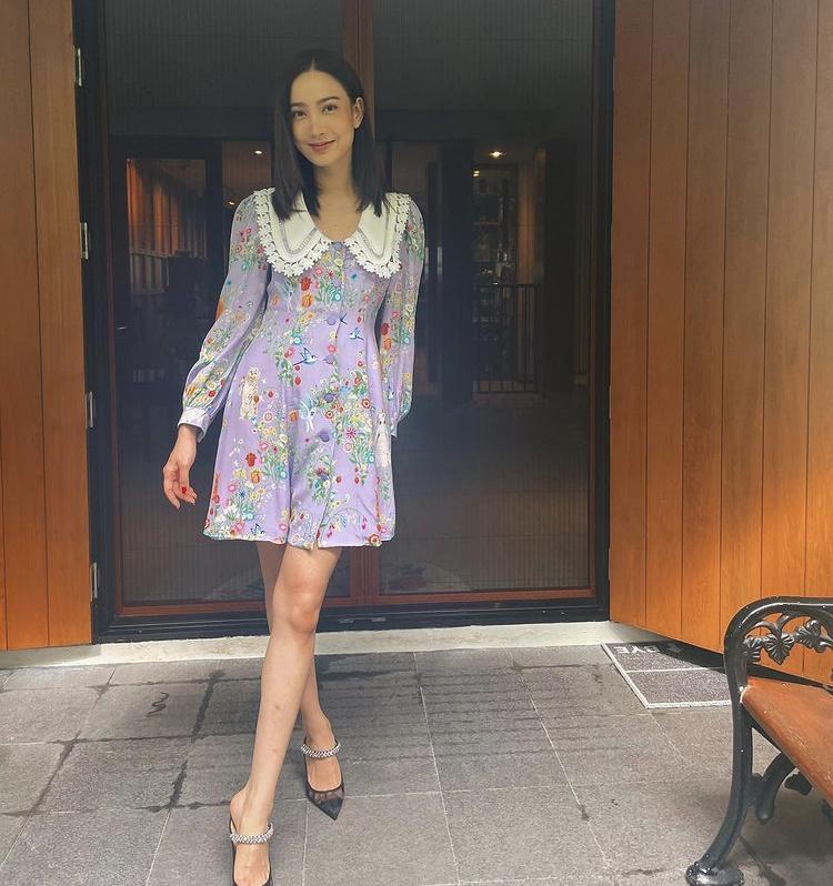 Mỹ nhân Thái Lan phối váy áo hoa đón thu không lo sến súa-3
