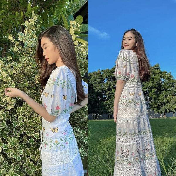 Mỹ nhân Thái Lan phối váy áo hoa đón thu không lo sến súa-4