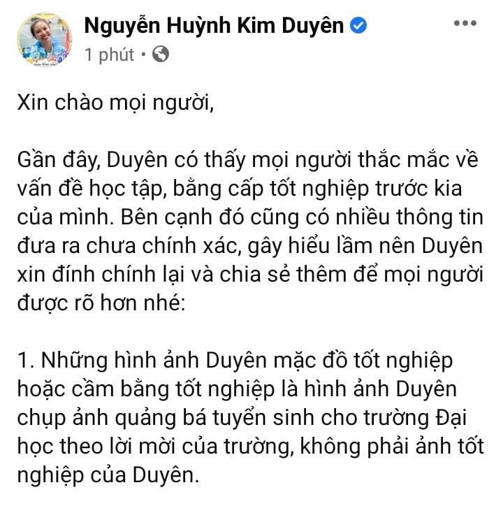 Bị bóc học dốt, tốt nghiệp ảo, Á hậu Kim Duyên nói gì?-2