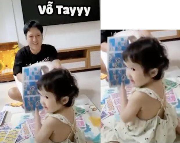 Con gái Trường Giang lộ mặt cute, làm việc nhà thoăn thoắt-5