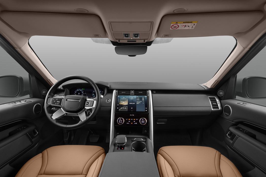 Hàng ghế trước của xe Land Rover Discovery mới