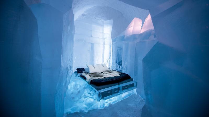 Khám phá vẻ đẹp độc nhất của khách sạn băng tuyết ở Thụy Điển - 1