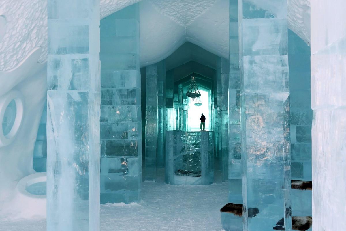 Khám phá vẻ đẹp độc nhất của khách sạn băng tuyết ở Thụy Điển - 2
