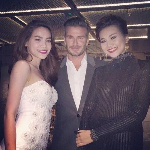 Hà Hồ, Thanh Hằng - David Beckham